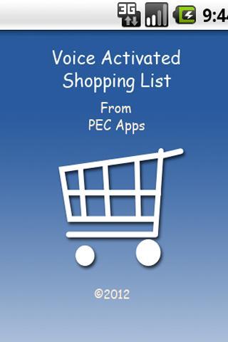 PEC Apps Shopping List