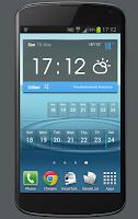 Screenshot of Weekly Calendar Widget