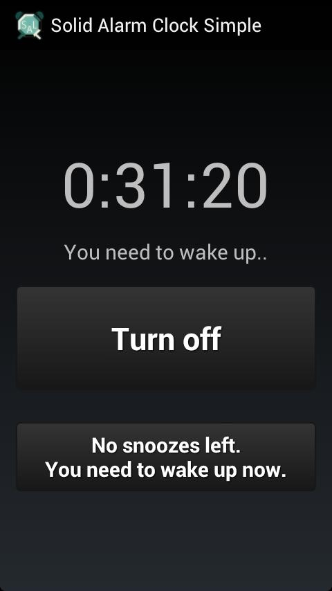 Solid Alarm Simple NoAds- screenshot