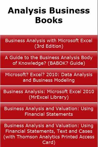 Analysis Business Books