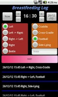 Screenshot of Breastfeeding Log