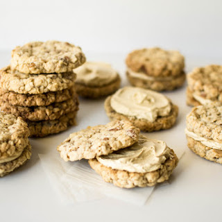 Oatmeal Sandwich Cookies with Smoked Treacle Buttercream