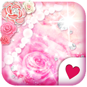 Cute wallpaper★Shiny Pink Rose
