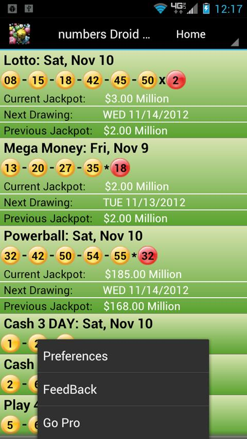 New York Lottery Droid Lite - screenshot