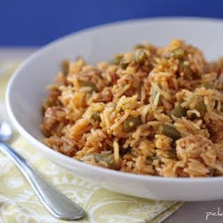 Smoky Turkey and Saffron Red Rice.