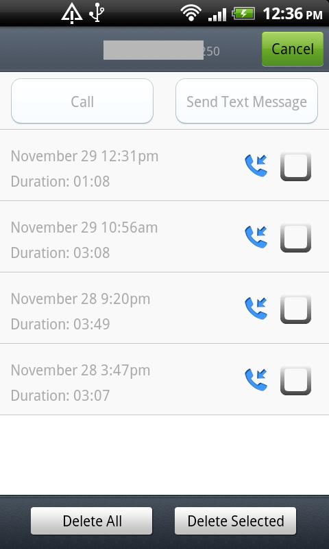 Call Log Master- screenshot