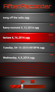 AfterRecorder - Audio Recorder- screenshot thumbnail