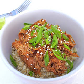 Spicy Sesame Honey Chicken… in the Crock Pot! {Gluten-free}.