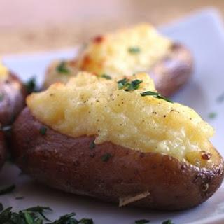 Twice Baked Garlic Potatoes Recipe