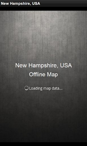 離線地圖 新罕布什爾州,美國