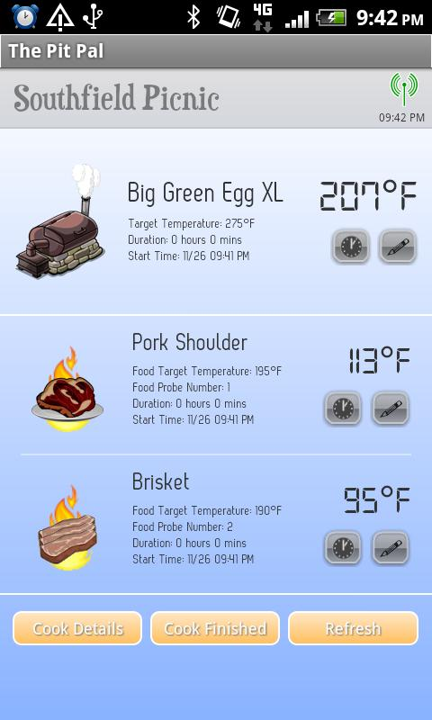 The Pit Pal BBQ App- screenshot