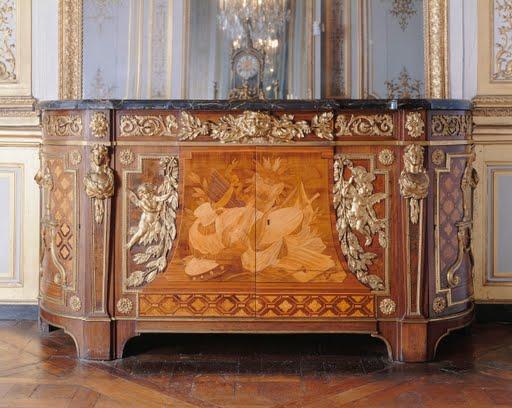 Commode de la chambre du roi louis xvi versailles jean for Chambre louis xvi versailles