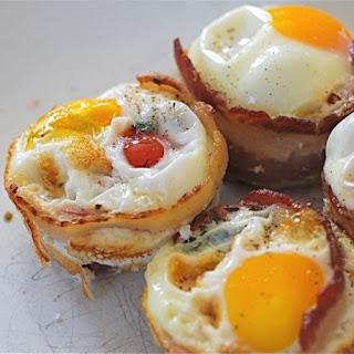 Herbed Tomato, Bacon & Egg Bites