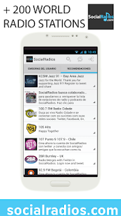 SocialRadios. Listen to radios - screenshot thumbnail