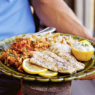 Greek Snapper on the Grill.