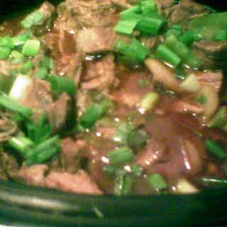 Hoisin Pork Stew with Snow Peas.