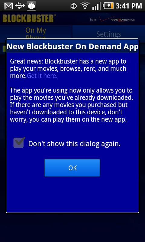 Blockbuster 2.7 for HTC - screenshot