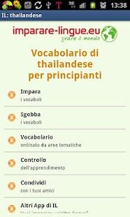 Imparare il thai, thailandese- screenshot thumbnail