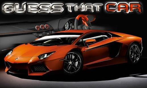 Guess That Car