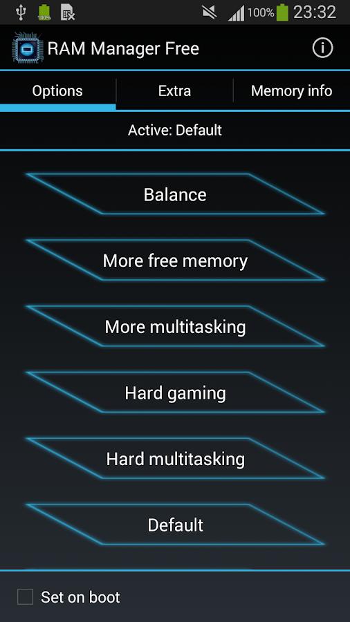 RAM Manager Free - screenshot