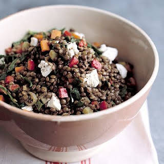 Warm Lentil Salad with Goat Cheese.