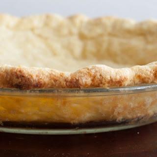 Blind Baked Pie Crust.