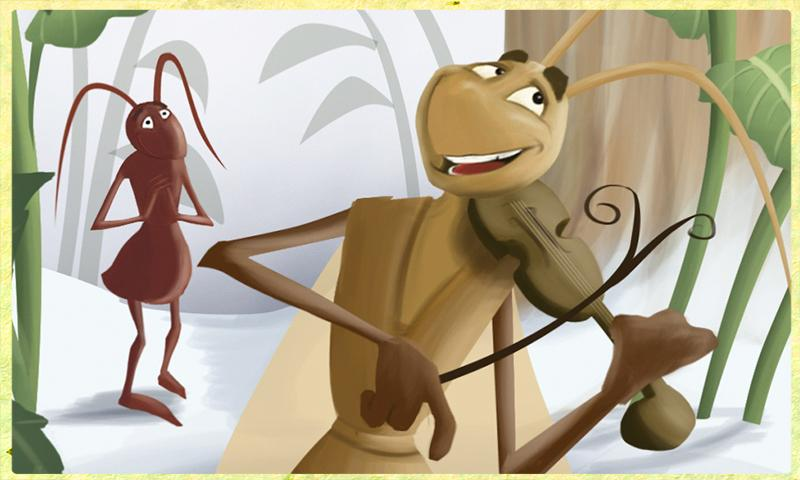 Ant and Grasshopper Storybook - screenshot