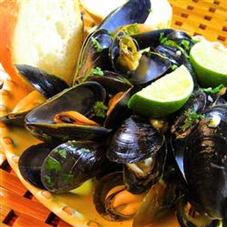 Thai Steamed Mussels.