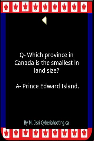 Canada Info 1.2 screenshots 1
