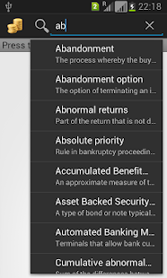 Financial Terms Dictionary - screenshot thumbnail