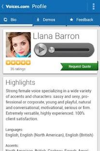 Voices.com - náhled