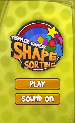 Toddler games: Shape sorting