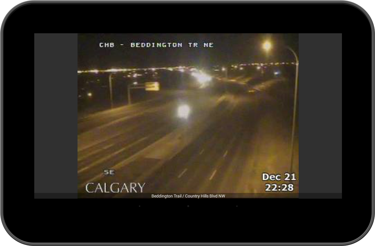 Calgary Traffic Alerts- screenshot