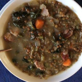 Sauerkraut Lentil Soup