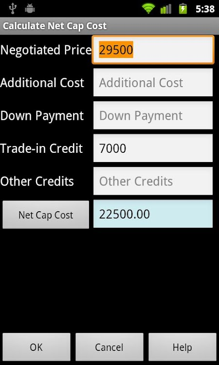 Car Lease Calculator Free Android Apps Appagg
