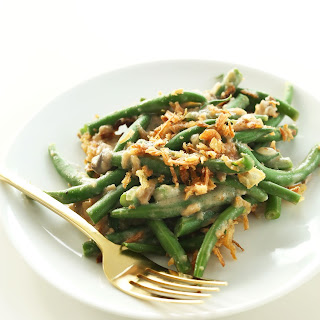 Vegan Green Bean Casserole.
