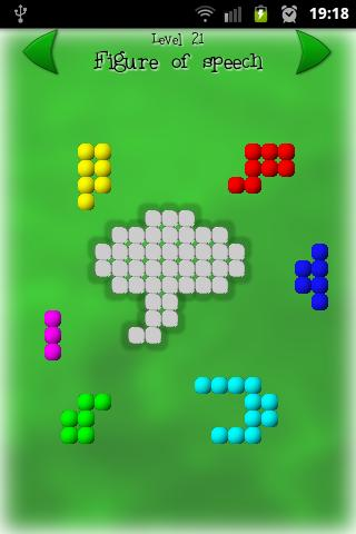 Shape Fitter Free puzzle game - screenshot
