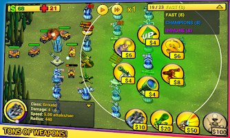 Screenshot of tower defense Line Demo