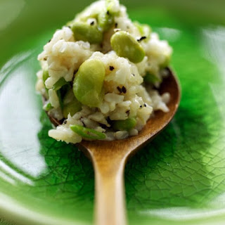 Brown Rice and Edamame.