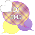 GO SMS - Purple Plaid 3 icon
