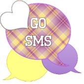 GO SMS - Purple Plaid 3