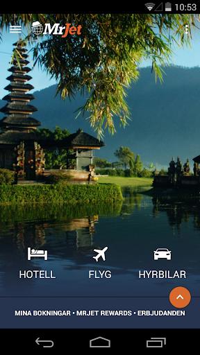 MrJet: hotell flyg hyrbilar