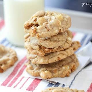 Biscoff Crunch White Chocolate Chip Cookies.
