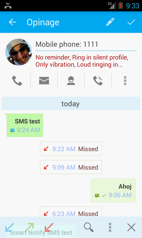 Smart Notify - SMS&Calls - screenshot