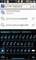 Screenshot of Squared Cyan HD Keyboard Theme
