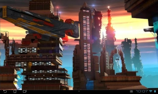 Space Cityscape 3D LWP Screenshot