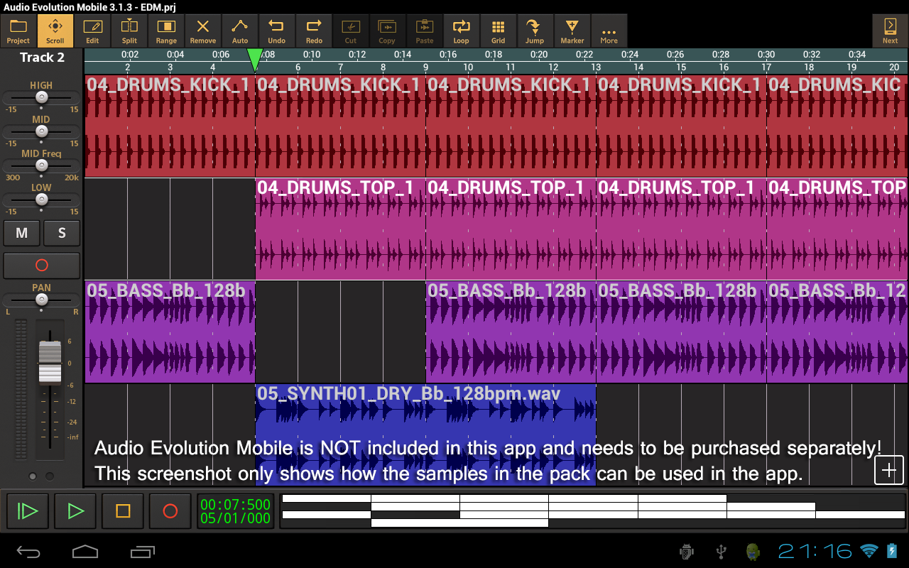 EDM Volume 1 for AEMobile- screenshot