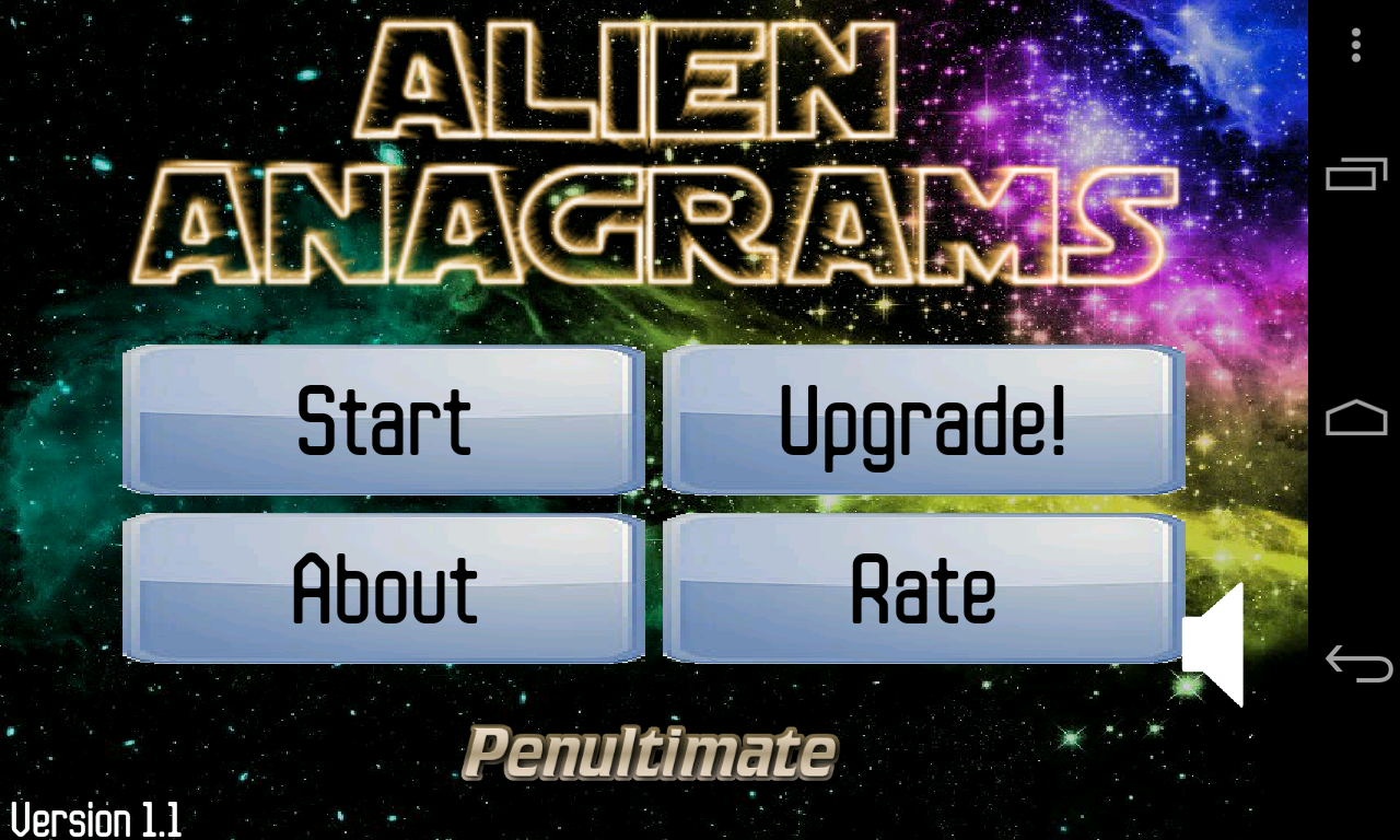Alien Anagrams- screenshot