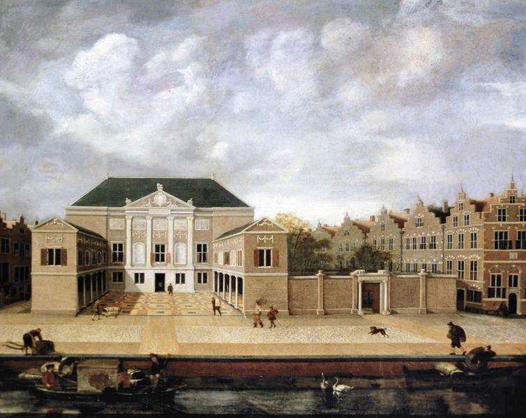 Susanna van Steenwijck-Gaspoel, Gezicht op de Lakenhal (1642)