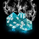 Smoking hot dice blue 480×800 logo